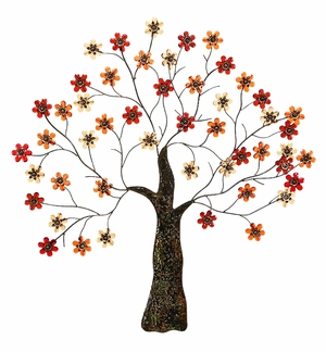 Metal Fleur Tree Wall Art Decor Sculpture in Antique finish Brand Woodland