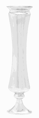 Metal Flower Vase with A Shimmering Finish And Smooth Curves Brand Woodland