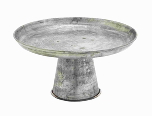 Metal Galvanized Cupcake Stand Equipped with A Sturdy & Wide Base Brand Woodland