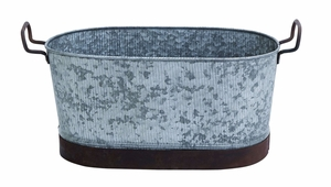 Metal Galvanized Oval Tub with Flawless Design Brand Woodland
