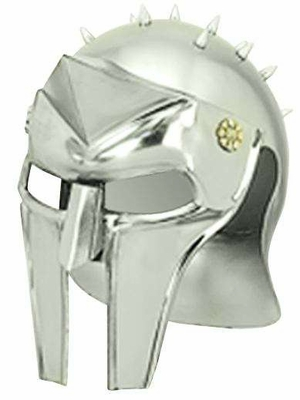 Metal Gladiator Helmet with Interesting Design and Sharp Edges Brand Woodland