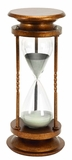 Metal Glass 60 MINUTES HOURGLASS, Antique Metal Glass Sand Timer Brand Woodland