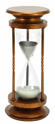 Metal/Glass 60 Minutes Hourglass Nice Looking TableDecor - 58160 by Benzara