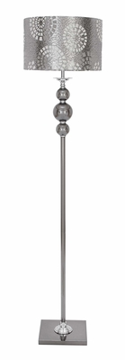 Metal Glass Floor Lamps In Silver Color Makes The Spots More Impressive Brand Woodland