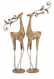 "Metal Golden Reindeer Lovers Set of 2 16""W, 40""H by Woodland Import"