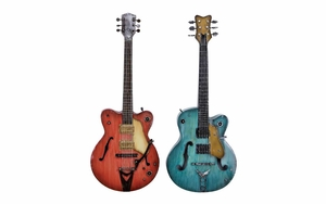 Metal Guitar 2 Assorted  Guitar Musical Wall Decor Fashion For Years Brand Woodland