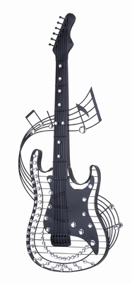 Metal Guitar Wall Art Features Guitar Design made from Metal Brand Woodland