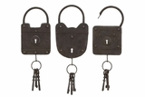 Metal Key Wall Decor 3 Asst, 16 Inch Height, 6 Inch Width Brand Woodland