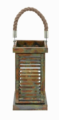 Metal Lantern Traditional Designs with an Antique Finish Brand Woodland