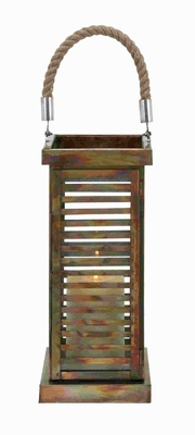 Metal Lantern with Contemporary Twist To Simple Decor Style Brand Woodland