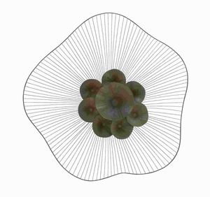 Metal Lotus Leaf Wall Decor with Timeless and Durable Design Brand Woodland