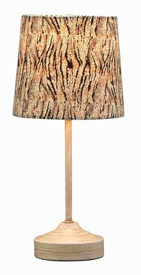 Metal Mini Table Lamp in Brown Finish with Minimal Design Brand Woodland