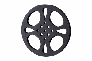 Metal Movie Reel, Black 18 Inch Diameter Brand Woodland