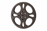 Metal Movie Reel, Tanned, 18 Inch Diameter Brand Woodland