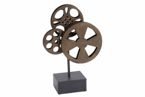 Metal Movie Reel Elegant Accessory For Conference Room - 51617 by Benzara