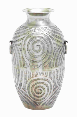 Metal Nickel Plated Vase Striking Modern Design in Nickel Plating Brand Woodland