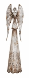 "Metal Old School Angel w/ Antique Effect 6""W, 24'h by Woodland Import"