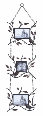 Metal Photo Frame For Three Photos Designed With Nature Theme Brand Woodland