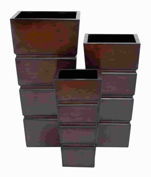 Metal Planter Modern Design and Smooth Finish (Set of 3) Brand Woodland
