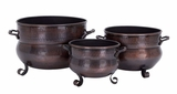 Metal Planter Set/3 12 Inch , 10 Inch , 8 Inch Length Brand Woodland