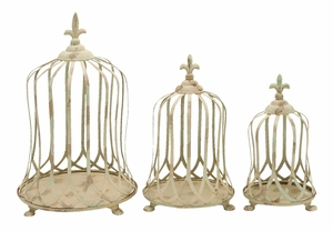Metal Planter with Elegant Curves & Beautiful Details - Set of 3 Brand Woodland