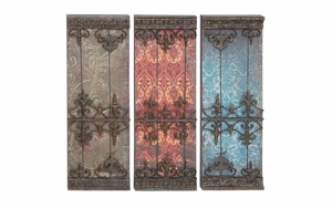 Metal Plaque 3 Assorted  Wall Decor - 51895 by Benzara