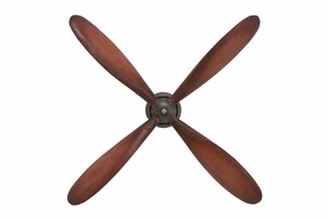 Metal Propeller Wall Decor Metallic Tone Makes It Look Original - 51675 by Benzara