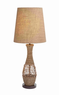 "Metal Rattan 32"" Table Lamp with Sturdy and Durable Design Brand Woodland"