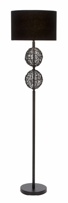 Metal Rattan Floor Lamps A Classic Portable Floor Light Decor Brand Woodland