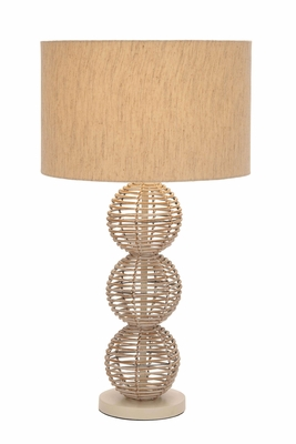 Metal Rattan Table Lamp A Decorative Sculpture To Illuminate Places Brand Woodland