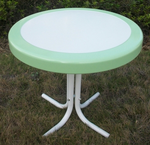 Metal Retro Round Table in Lush Lime by 4D Concepts