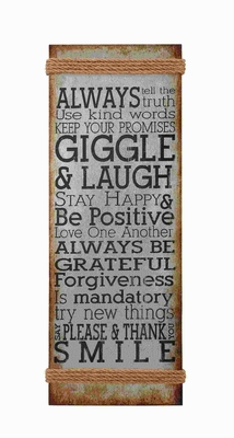 Metal Rope Wall Sign with Always Truth Sign Styles Brand Woodland