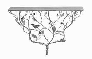 Metal Shelf in an Exquisite Design of Twisted Branches and Leaves Brand Woodland