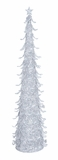 """Metal Silver Christmas Tree w/ Glitter 36""""H by Woodland Import"""