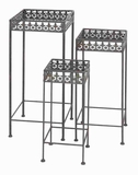 Metal Square Plant Stand with Rubber Suction Cups (Set of 3) Brand Woodland