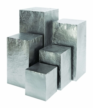 Metal Square Shaped Pedestal with Unique Style - Set of 5 Brand Woodland