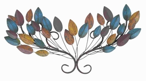 Metal Sturdy Leaf Wall Decor in Multicolor with Unique Style Brand Woodland