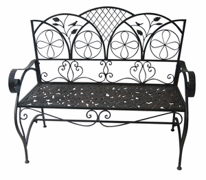 Metal Sunleaves Bench by Alpine Corp