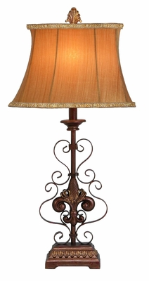 Metal Table Lamp with Contemporary Design and Intricate Detailing Brand Woodland