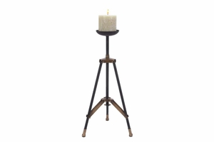 Metal Tripod Candle Holder, 24 Inch Height, 11 Inch Width Brand Woodland