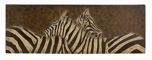 Metal Two Zebras Wall Nautical Decor Sculpture with Detailing Brand Woodland
