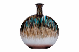 Metal Vase in Sturdy Design with Slender Neck and Round Body Brand Woodland