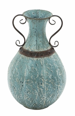 """Metal Vase with Traditional Design 22"""" Height Brand Woodland"""
