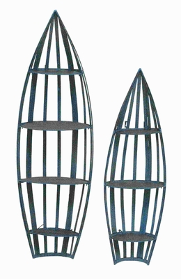 Metal Wall Boat Shelf Suitable for Outdoor and indoor (Set of 2) Brand Woodland