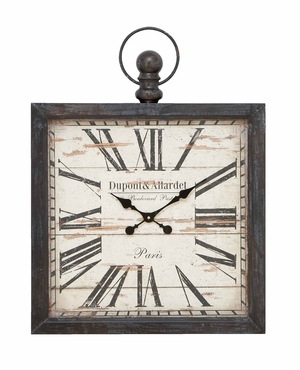 Metal Wall Clock with Versatile Style and Modish Addition Brand Woodland