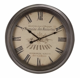Metal Wall Clocks, Circular Decorative Clocks, 19 Inch Diameter Brand Woodland