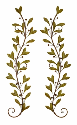 Metal Wall Decor Crafted with Dainty Leaf Creeper Design Brand Woodland