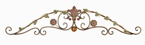 Metal Wall Decor Crafted with Floral Design in Green and Brown Brand Woodland
