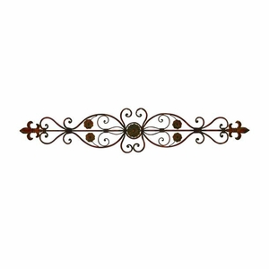Metal Wall Decor Designed with Brick Textured Pattern in Red Brand Woodland