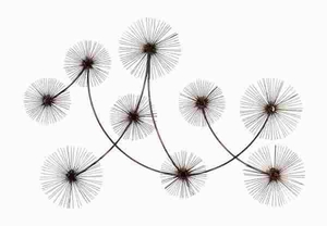 Metal Wall Decor Designed with Fine Dandelion Seed Heads Brand Woodland